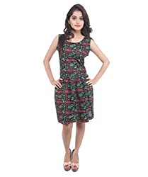Lal Chhadi Women's Dress(KLSD007-S_Black_Small)