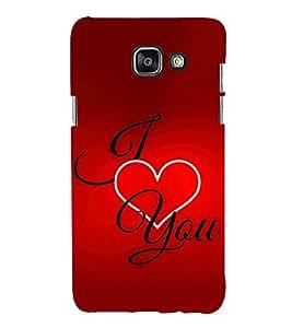 I Love You 3D Hard Polycarbonate Designer Back Case Cover for Samsung Galaxy A7 (2016) :: Samsung Galaxy A7 2016 Duos :: Samsung Galaxy A7 2016 A710F A710M A710FD A7100 A710Y :: Samsung Galaxy A7 A710 2016 Edition