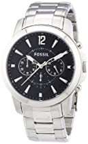 Fossil Gents All Stainless Steel Chronograph Watch
