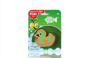 Pink Guppy Pink Guppy Kids Green apple fragrant, Cute Duck Shaped Bathing Bar for Kids