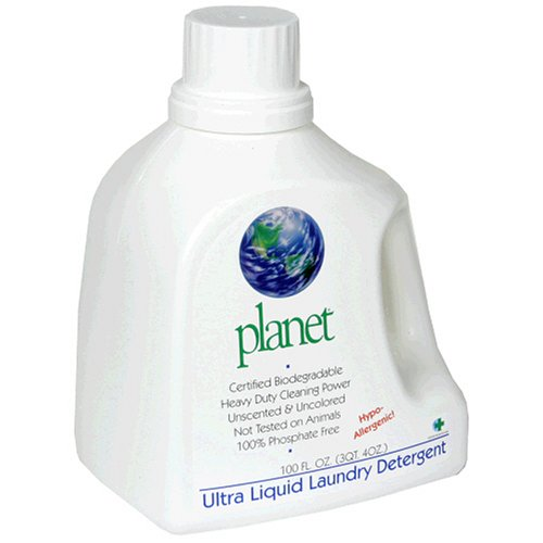 Planet Ultra Liquid Laundry Detergent, 100 Fluid-Ounce Bottles (Pack of 4)