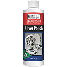 Siege Chemical Professional Silver Polish and Cleaner 12oz - 2pack