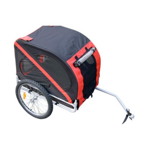 Aosom Elite Pet Dog Bike Trailer with Type 'A' Hitch, Leash Hook, Satety Flag
