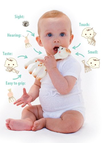 Details for Vulli Sophie the Giraffe Teether, Brown/White (Pack of 2) from Vulli