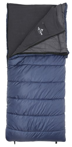 TETON Sports Polara 3-in-1 0 Degree F Sleeping Bag with Fleece Liner (82″ x 36″, Blue, Right Zip)