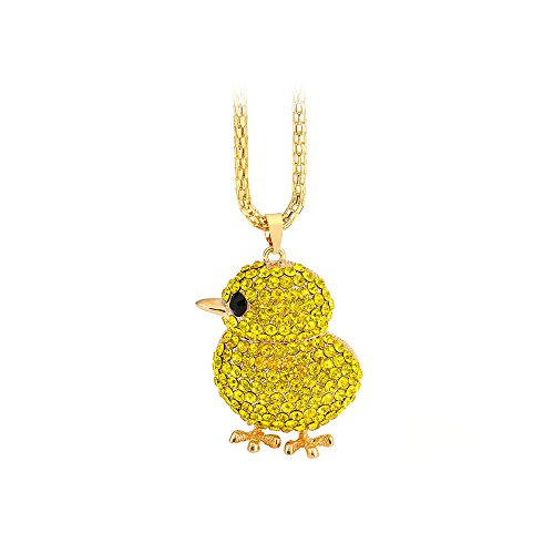 The Starry Night Golden Yellow Diamond Accented Lovely Cute Chick Pendant Necklace Sweater Chain (Low Sodium Chicken Bouillon Cubes compare prices)