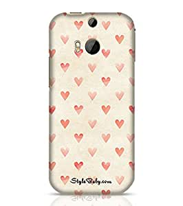 Style baby Sand Hearts HTC M8 Phone Case