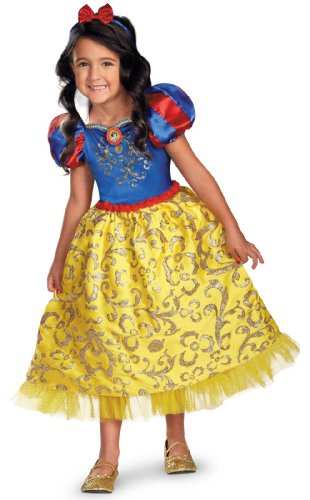 Disguise Disney's Snow White Sparkle Deluxe Girls Costume