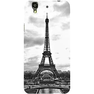Casotec Paris City Design Hard Back Case Cover for Micromax Yu Yureka AQ5510 / AO5510