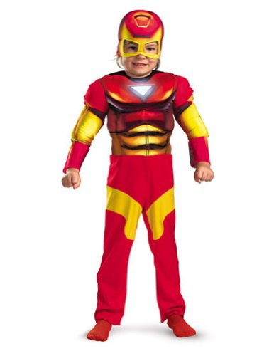 Baby-Toddler-Costume Iron Man Toddler Costume Muscle 2T Halloween Costume