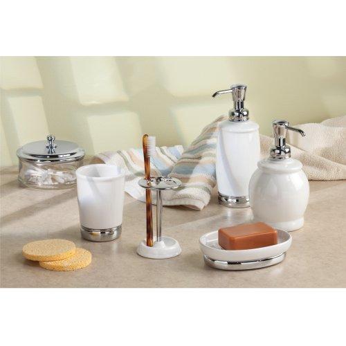 Interdesign york bath collection soap dish white for Interdesign york