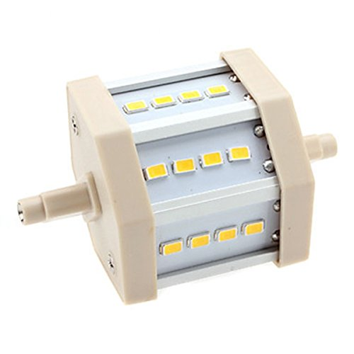 Generic R7S 6W 12X5630 Smd 560-600Lm 3000-3500K Warm White Light Led Corn Bulb (85-265V)