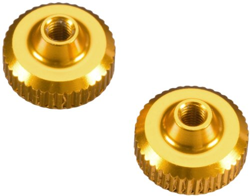 Team Durango Aluminum Thumb Nuts, Gold - 1