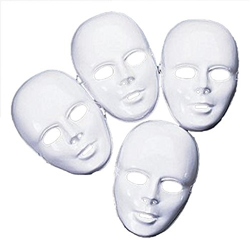 Plastic White Full Masks - 1