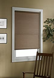 Green Mountain Vista Deluxe Woven Cane Paper Roller Shade, 27 by 72-Inch, Cocoa