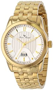 Lucien Piccard Men's LP-12355-YG-22S Diablons Silver Dial Gold Ion-Plated Stainless Steel Watch