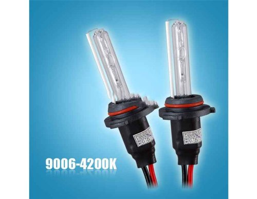 2Pcs 12V 35W Hb4-9006 4200K Auto Car Fog Lamp Headlight Hid Single Xenon Bulbs (Black)