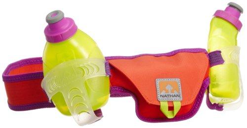 Nathan Speed 2 Bottle Belt, Purple Cactus Flower/Tangerine Tango, Medium