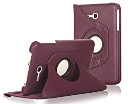 Tab 3 Lite Case, E LV Samsung Galaxy Tab 3 Lite Case Cover 360 rotating Lightweight case for Tab 3 Lite - PURPLE