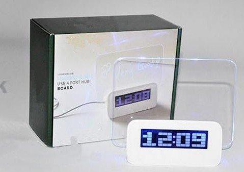 XT-XINTE Mode Romantique Réveil avec fluorescent message plaqué Conseil LED Horloge Modèle B Couleur Vert