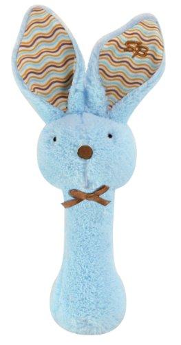 Stephan Baby Fuzzy Bunnie Rattle, Patel Blue