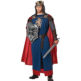 California Costumes Men's Richard The Lionheart Adult, Blue/Red, Large