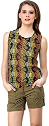 ShilpKala Women's Sleeveless Top (skt3030m, Multi-colour, Medium)