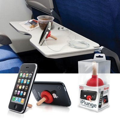 RED Plunger iPlunge Stand Holder for iPhone iPod