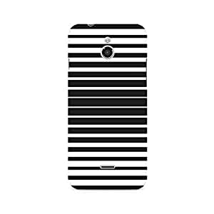 Ebby Black and White Stripes Premium Printed Case For InFocus M2