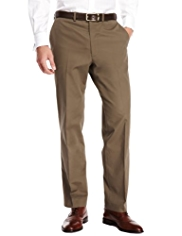 Collezione Luxury Pure Supima® Cotton Flat Front Trousers