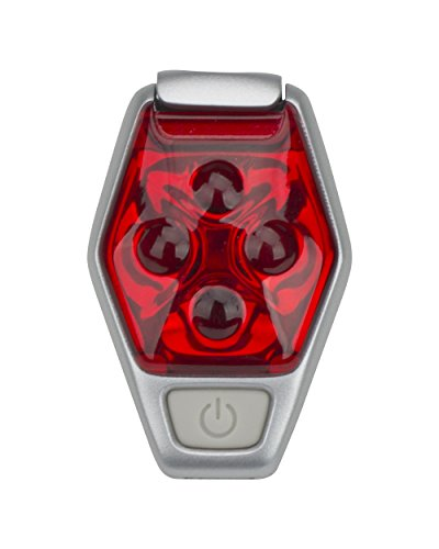 Nathan Hyper-Brite Strobe Reflective Gear, Fiery Red/Silver