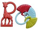 Vulli - Conjunto de accesorios de beb�: Vainilla sonajero mordedor Sophie la jirafa con conchas