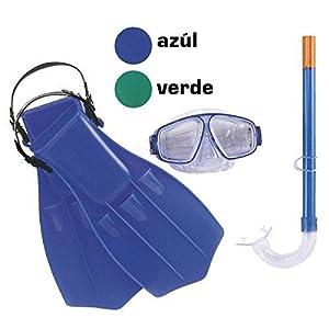 Bestway - Juego Snorkel Gafas + tubo + aletas, 7-14años, multicolor (8321100)