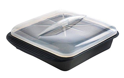 Mastrad F69281 Papillote Minute - Silicone XL - Noir - 30.5 x 25.5 cm