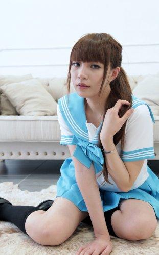 【World costume】 正統派半袖セーラー服【wlc015 サイズ:Mサイズ カラー:ブルー】