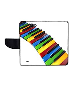 KolorEdge Printed Flip Cover For Samsung Galaxy Note 2 N7100 Multicolor - (55KeMLogo11113SamN7100)
