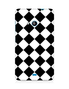 Amez designer printed 3d premium high quality back case cover for Microsoft Lumia 535 (Chess Simple Pattern)