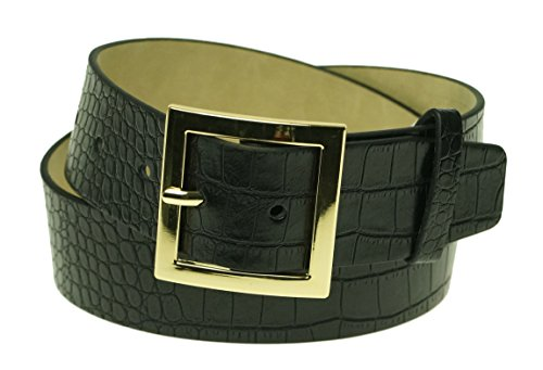 Style & Co Croc Skin Style Belt (XL, Black)