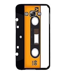 Vintage Yellow Cassette 3D Hard Polycarbonate Designer Back Case Cover for Samsung Galaxy E5 :: Samsung Galaxy E5 E500F (2015)