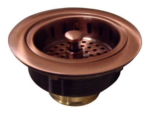 Yosemite Home Decor CSD3-1/2 Strainer Drain for Copper Farmhouse and Kitchen Sinks, 4-1/2-by-4-1/2-by-2-3/4-Inch, Copper