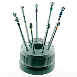 bergeon 9 piece screwdriver set in stand. Black Bedroom Furniture Sets. Home Design Ideas