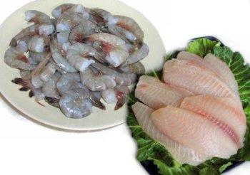 2 lbs. Tilapia and 2 lbs. Jumbo Shrimp