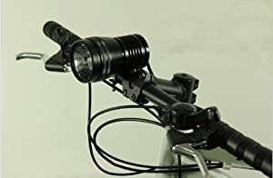 High Quality Hid Bicycle Headlight Hid Bike Light With 24w 1500lm Lamp And Protected Rechargeable 6600mah Battery