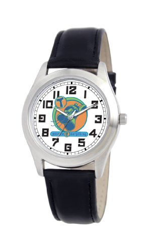 Disney Women's D171S006 Tigger Black Leather Strap Watch