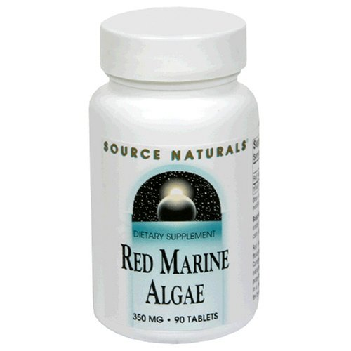Source Naturals Red Marine Algae 350mg, 90 Tablets (Pack of 2)