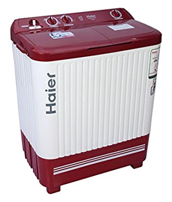Haier XPB72-0714DX Semi-automatic Top-loading Washing Machine (7.2 Kg, Sparkle Red)
