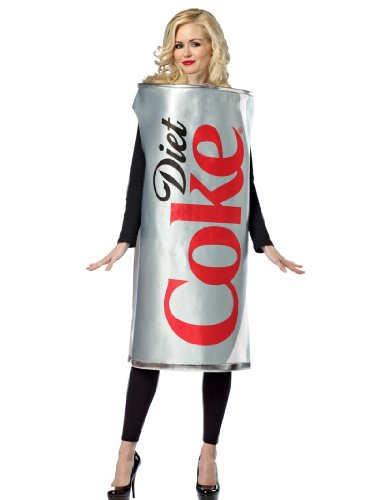 Diet Coke Costume Coca Cola Full Body Can Silver Womens Theatrical Costume