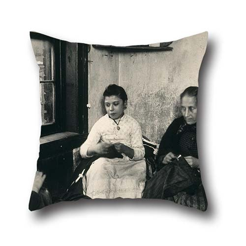 16 X 16 Inch / 40 By 40 Cm Oil Painting Jacob A. Riis - Sewing Pants For The Sweater's In Gotham Court Pillow Shams ,twin Sides Ornament And Gift To Bar Seat,gril Friend,bar,valentine,pub,father