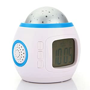 Music Starry Star Sky Projection LED Backlight Calendar Thermometer Alarm Colck by Beautymall