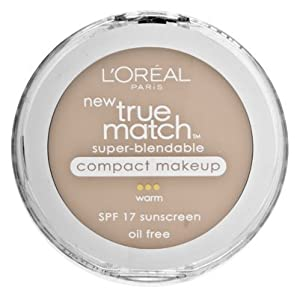 L'Oreal Paris True Match Super-Blendable Compact Makeup, SPF 17, 0.30 Ounce